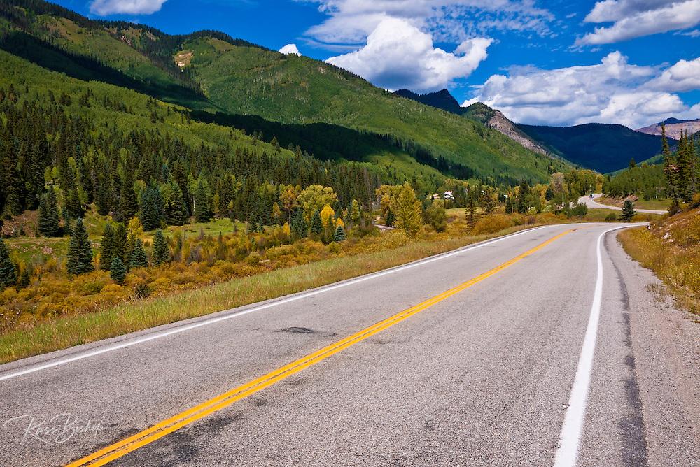 The San Juan Skyway (Highway 145) near Rico, San Juan National Forest, Colorado