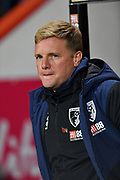 Bournemouth manager Eddie Howe during the EFL Cup 4th round match between Bournemouth and Norwich City at the Vitality Stadium, Bournemouth, England on 30 October 2018.