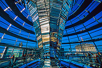 Interior of the Reichstagskuppel (glass dome on top of the Bundestag Building).
