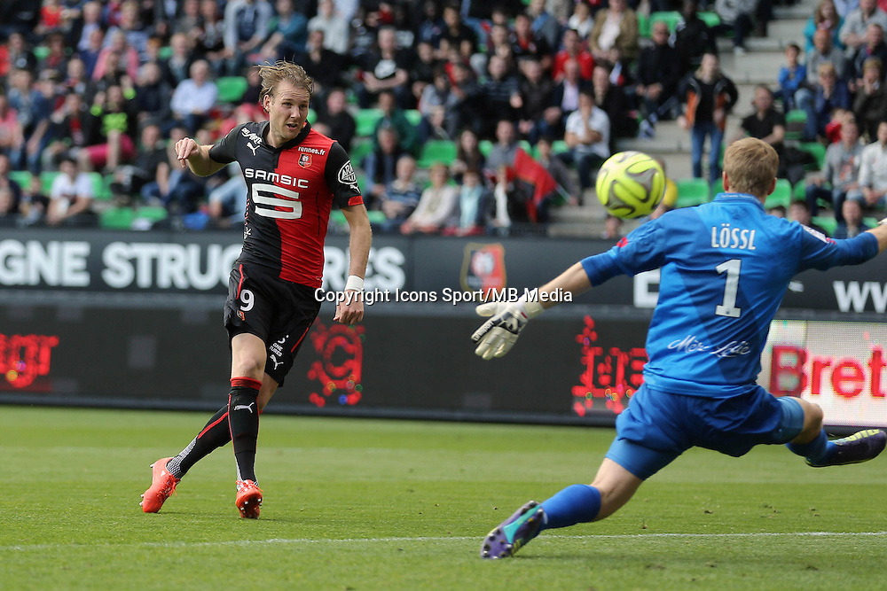 Ola TOIVONEN / Jonas LOSSL - 12.04.2015 - Rennes / Guingamp - 32eme journee de Ligue 1 <br />