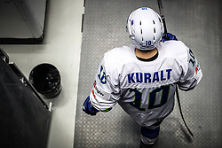 Anze Kuralt of Slovenia during ice hockey match between Belarus and Slovenia at IIHF World Championship DIV. I Group A Kazakhstan 2019, on May 2, 2019 in Barys Arena, Nur-Sultan, Kazakhstan. Photo by Matic Klansek Velej / Sportida