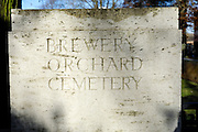 France, Thu 9 Dec. 2010: Images from Brewery Orchard Cemetery in Bois Grenier. The cemetery contains the graves of 201 British, 125 Australian, 13 New Zealand and 5 German soldiers from the First World War.