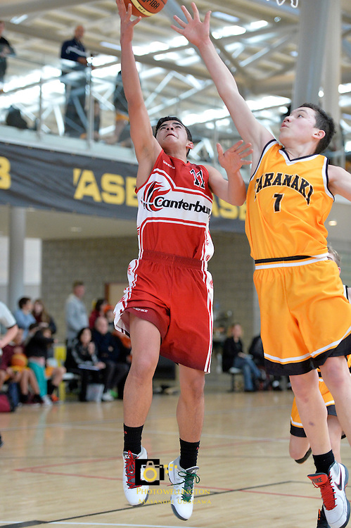 2013 U15 National Championship Basketball Tournament at ASB Sports Centre, Kilbirnie, Wellington, New Zealand on Wednesday 24 July 2013. <br /> Photo by Masanori Udagawa. <br /> www.photowellington.photoshelter.com