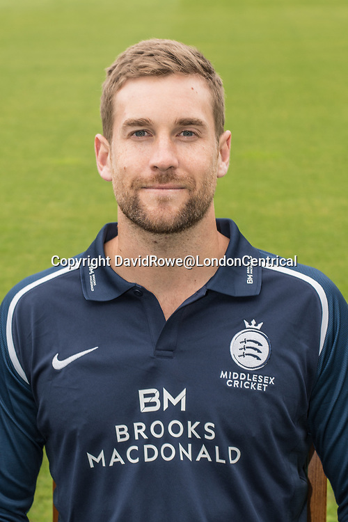 11 April 2018, London, UK.  Dawid Malan of Middlesex County Cricket Club in the   blue Royal London one-day kit . David Rowe/ Alamy Live News