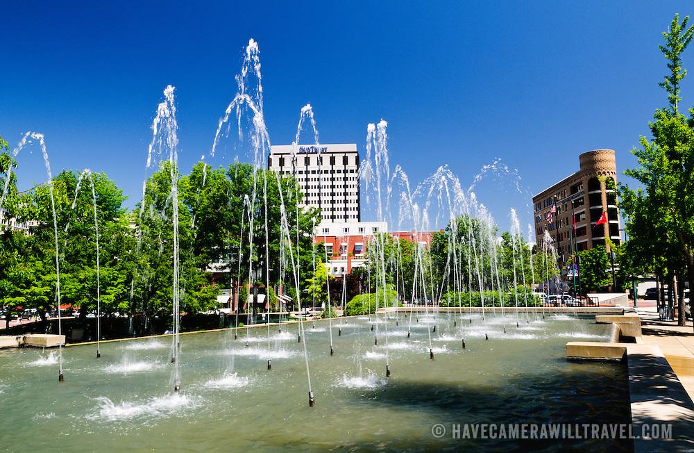 Miller Park, after Burkett Miller, in downtown Chattanooga, Tennessee.