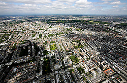 UK ENGLAND LONDON 22JUL08 - Aerial view of Kensington in west London during zeppelin flight over the city...jre/Photo by Jiri Rezac..© Jiri Rezac 2008..Contact: +44 (0) 7050 110 417.Mobile:  +44 (0) 7801 337 683.Office:  +44 (0) 20 8968 9635..Email:   jiri@jirirezac.com.Web:    www.jirirezac.com..© All images Jiri Rezac 2008 - All rights reserved.