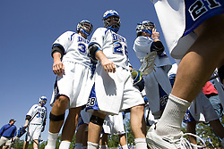 06 May 2007: Duke Blue Devils midfielder Bo Carrington (31) and midfielder Dan Oppedisano (28) in a 19-6 victory over the Air Force Falcons at Koskinen Stadium in Durham, NC.