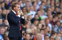 LONDON, ENGLAND - Sunday, August 31, 2014: Liverpool's manager Brendan Rodgers during the Premier League match against Tottenham Hotspur at White Hart Lane. (Pic by David Rawcliffe/Propaganda)