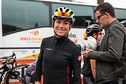 Annemiek van Vleuten of Bigla Pro Cycling Team after the sign-on at the Holland Ladies Tour, Zeddam, Gelderland, The Netherlands, 1 September 2015.<br /> Photo: Pim Nijland / PelotonPhotos.com
