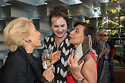 NICOLETTA FIORUCCI;; MILOVAN FARRONATO; FRANCES REYNOLDS, Party  to celebrate Julia Peyton-Jones's  25 years at the Serpentine. London. 20 June 2016
