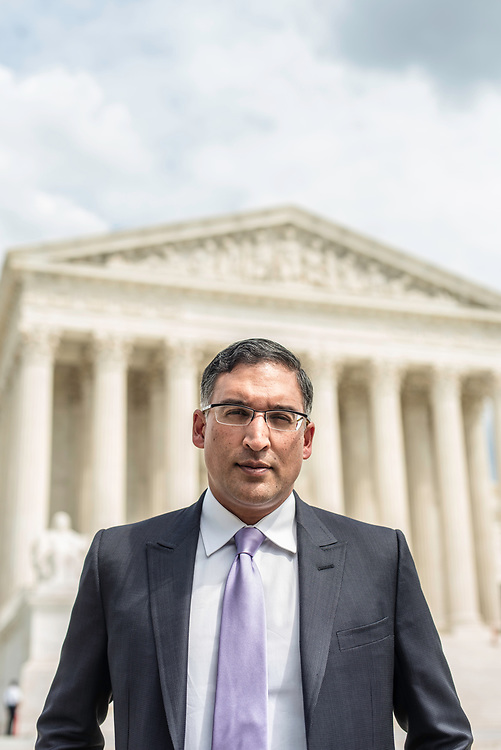 WASHINGTON, DC -- 8/10/17 -- Supreme Court lawyer Neal Katyal is one of the leading attorneys for the state of Hawaii as they fight President Trump's travel ban. Katyal, now an attorney with Hogan Lovells, and former Acting Solicitor General, has argued more cases before the Supreme Court, 34, than any other minority attorney except Thurgood Marshall, with whom he's currently tied..…by André Chung #_AC14012