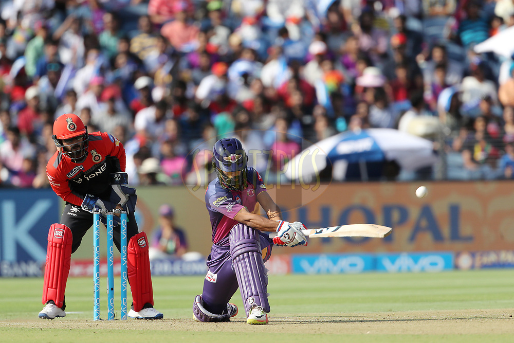 Rahul Ajay Tripathi of Rising Pune Supergiant during match 34 of the Vivo 2017 Indian Premier League between the Rising Pune Supergiants and the Royal Challengers Bangalore   held at the MCA Pune International Cricket Stadium in Pune, India on the 29th April 2017<br /> <br /> Photo by Ron Gaunt - Sportzpics - IPL
