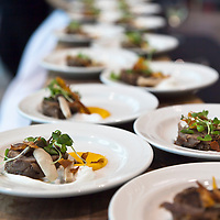 Food by Chef Brad Lomato and cooks of Cambridge Mill at Cuisine Canada Culinary Book Awards reception, November 5, 2010.