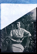 woman sitting for a portrait France 1934