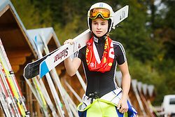 Kriznar Nika during national competition in Ski Jumping, 8th of October, 2016, Kranj,  Slovenia. Photo by Grega Valancic / Sportida