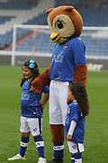 Oldhams mascot  during the EFL Sky Bet League 1 match between Oldham Athletic and Scunthorpe United at Boundary Park, Oldham, England on 28 October 2017. Photo by George Franks.