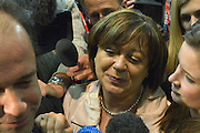 © Licensed to London News Pictures. 01/03/2013. Eastleigh, UK MARIA HUTCHINGS - Conservative leaves after she looses. The voters of Eastleigh vote to choose a new MP in a by-election prompted by the resignation of former Lib Dem cabinet minister Chris Huhne. Polling will continued 22:00 GMT 28/02/13, with votes counted overnight on Thursday. There are 14 candidates in total on the ballot papers.. Photo credit : Stephen Simpson/LNP