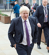 Conservative Annual Conference, Manchester Central, Manchester, Great Britain <br /> Day 4<br /> 4th October 2017 <br /> <br /> Boris Johnson MP - Foreign Secretary arrives at Conference Centre ahead of Leader's speech <br /> <br /> Photograph by Elliott Franks <br /> Image licensed to Elliott Franks Photography Services