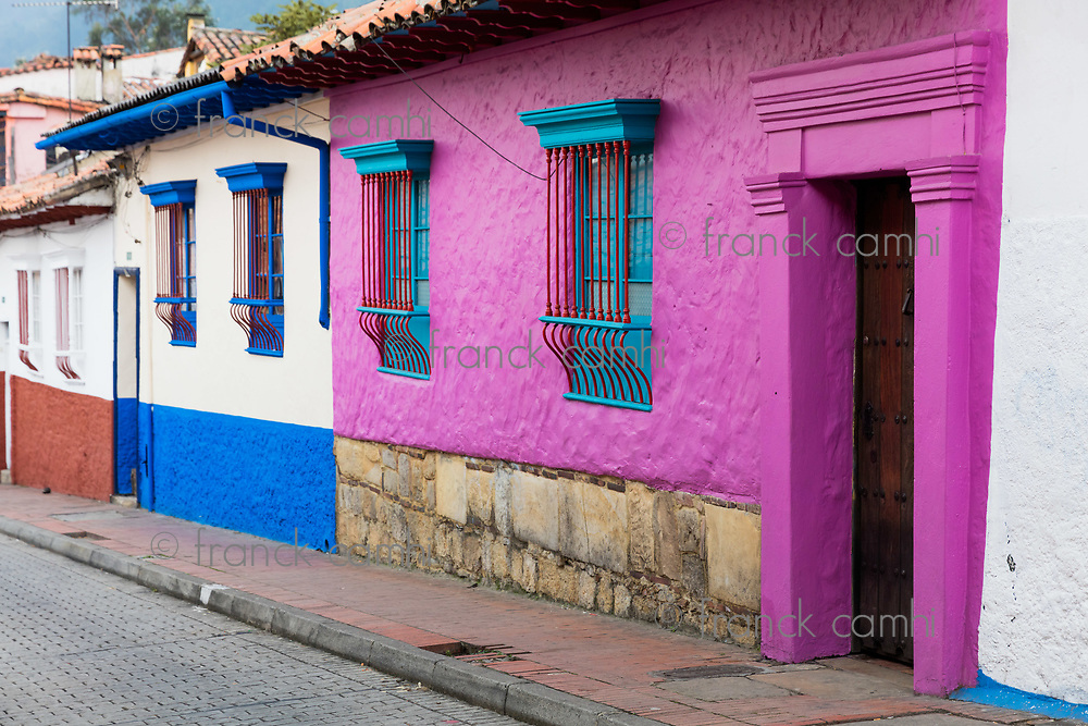 colorful Streets  in La Candelaria aera Bogota capital city of Colombia South America