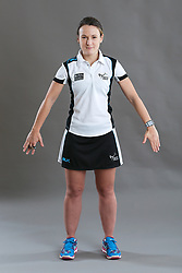 Umpire Kate Stephenson signalling obstruction of player without ball