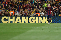 Barcelona´s Leo Messi celebrates a goal (1-0) during 2014-15 Copa del Rey final match between Barcelona and Athletic de Bilbao at Camp Nou stadium in Barcelona, Spain. May 30, 2015. (ALTERPHOTOS/Victor Blanco)