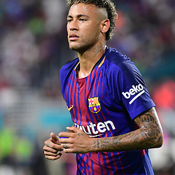 Neymar Jr of Barcelona during the International Champions Cup match between Barcelona and Real Madrid at Hard Rock Stadium on July 29, 2017 in Miami Gardens, Florida. (Photo by Dave Winter/Icon Sport)