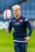 Darcy Graham (#14) of Edinburgh Rugby warms up before the the European Rugby Challenge Cup match between Edinburgh Rugby and SU Agen at BT Murrayfield, Edinburgh, Scotland on 18 January 2020.