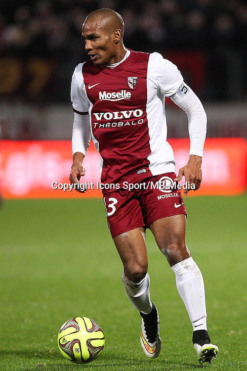 Florent MALOUDA - 20.12.2014 - Metz / Monaco - 17e journee Ligue 2<br />Photo : Fred Marvaux / Icon Sport