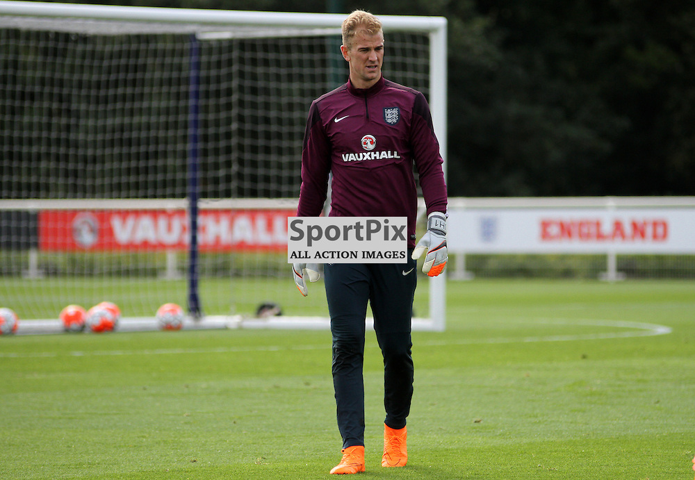 Joe Hart During England Training on Monday the 7th September 2015.