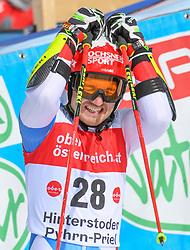 26.10.2019, Hannes Trinkl Weltcupstrecke, Hinterstoder, AUT, FIS Weltcup Ski Alpin, Riesenslalom, Herren, 2. Lauf, im Bild Cedric Noger (SUI) // Cedric Noger of Switzerland reacts after his 2nd run of men's Giant Slalom of FIS ski alpine world cup at the Hannes Trinkl Weltcupstrecke in Hinterstoder, Austria on 2019/10/26. EXPA Pictures © 2020, PhotoCredit: EXPA/ Erich Spiess