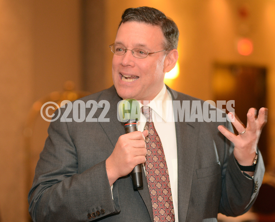 G1FUNN12C<br /> Jeff Brown, CEO of Brown's ShopRite Super Stores speaks to attendees during the FunTimes Magazine 5th Annual Gala Saturday October 10, 2015 at the Renaissance Hotel in Philadelphia, Pennsylvania. The event featured a dinner dance as well as the recipients of three awards. (William Thomas Cain/For The Inquirer)