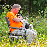 Photography was made during the 2018 Cocker Spaniel Hunting Enthusiasts of SE WI Hunt Test, on July 28, 2018.  The test took place at Mazomanie Unit LowerWI State Riverway, in Mazomanie, WI. Beautiful warm summer days.