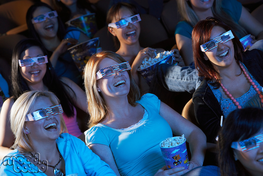 Audience Watching 3-D Movie