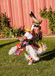 USA Utah, Paiute Indian dancing at Frontier Homestead State Park Museum in Cedar City.
