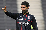 Lincoln City manager Danny Cowley during the EFL Sky Bet League 1 match between Milton Keynes Dons and Lincoln City at stadium:mk, Milton Keynes, England on 20 August 2019.