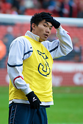 SHEFFIELD, ENGLAND - Saturday, March 1, 2008: Charlton Athletic's Zheng Zhi warms-up before the League Championship match against Sheffield United at Bramall Lane. (Photo by David Rawcliffe/Propaganda)