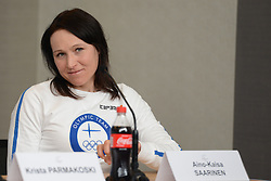 February 8, 2018 - Pyeonchang, Republic of Korea - AINO-KAISA SARRINEN of the Finnish cross country ski team at a press conference prior to the start of the 2018 Olympic Games (Credit Image: © Christopher Levy via ZUMA Wire)