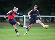 Dundee new boy A-Jay Leitch-Smith fires in a shot during Dundee training at the University Grounds, Riverside, Dundee<br /> <br />  - &copy; David Young - www.davidyoungphoto.co.uk - email: davidyoungphoto@gmail.com