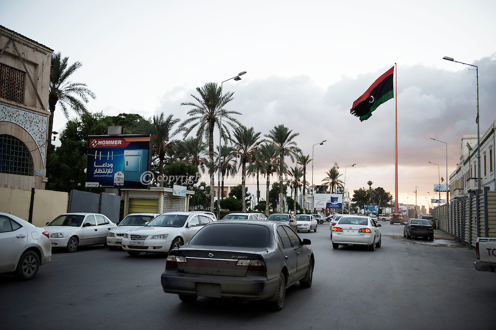 Libya, Misurata: Libyan flag in Misurata. Alessio Romenzi