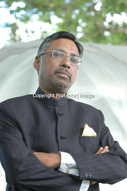 Indian diplomat and writer Pavan Varma at the Edinburgh International Book Festival 2005.<br /> <br /> Copyright Pascal Saez<br /> Pascal Saez / Writer Pictures