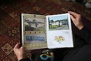 Bernard Dye showing his prefab album, Killarmarsh, North Derbyshire, 2012