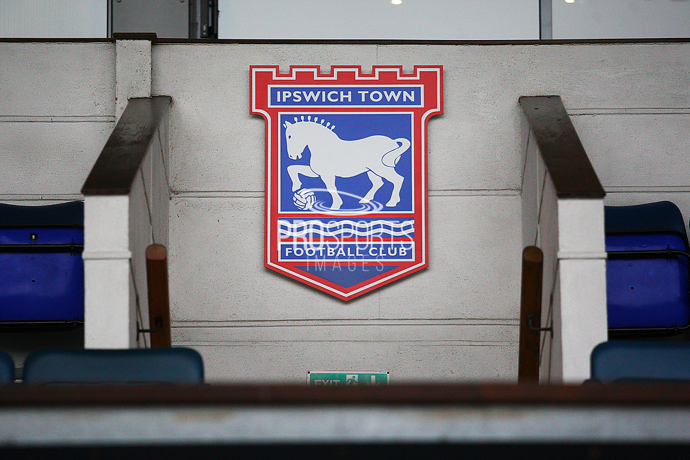 Ipswich Town Crest during the EFL Sky Bet Championship match between Ipswich Town and Burton Albion at Portman Road, Ipswich, England on 10 February 2018. Picture by John Potts.