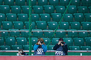 Photographers work during T-Mobile ExtraLeague soccer match between Legia Warsaw and Wisla Krakow in Warsaw, Poland.<br /> <br /> Poland, Warsaw, March 15, 2015<br /> <br /> Picture also available in RAW (NEF) or TIFF format on special request.<br /> <br /> For editorial use only. Any commercial or promotional use requires permission.<br /> <br /> Mandatory credit:<br /> Photo by © Adam Nurkiewicz / Mediasport