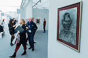 A gallery devoted to Frank Auerbach - Frieze Masters London 2015, Regents Park, London. It covers several thousand years of art from 130 of the world's leading modern and historical galleries. The vetted artworks spanning antiquities, Asian art, ethnographic art, illuminated manuscripts, Medieval, modern and post-war, Old Masters and 19th-century, photography, sculpture and Wunderkammer are brought together in a singular space designed by Anabelle Selldorf.  The fair is open to the public 14–17 October.