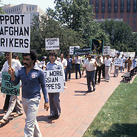 1980 demonstration opposing the Russian Soviet occupation of Afghanistan in Washington, DC