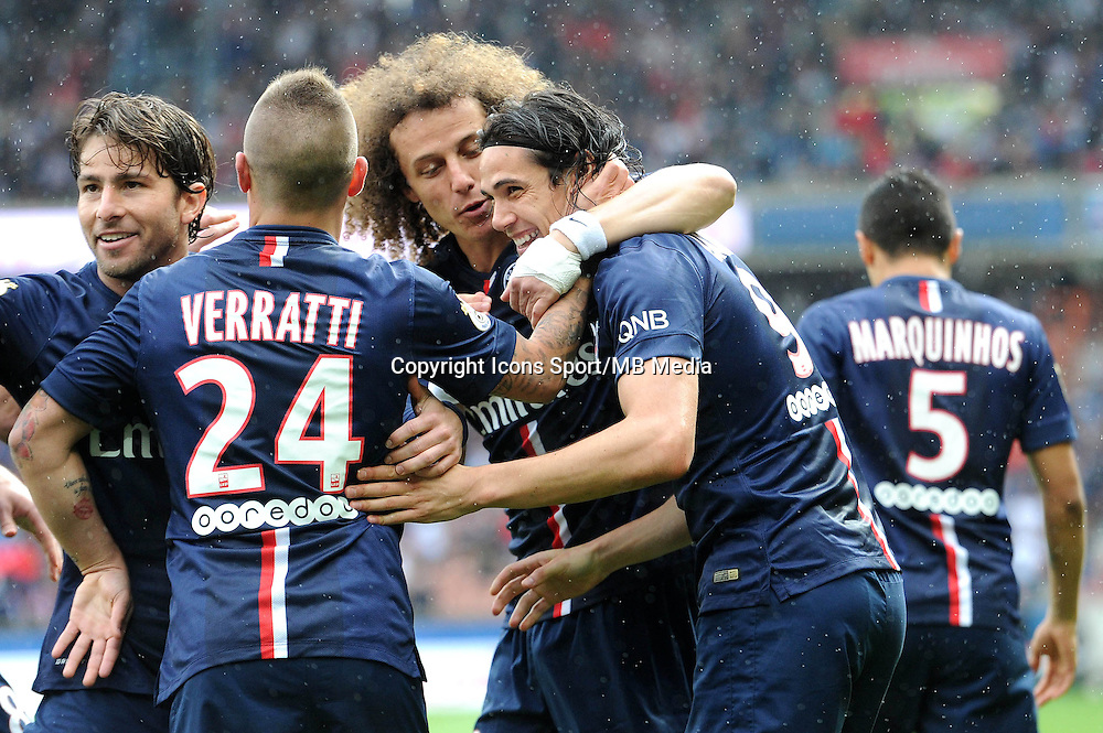 Joie Edinson CAVANI - 25.04.2015 - Paris Saint Germain / Lille - 34eme journee de Ligue 1<br />