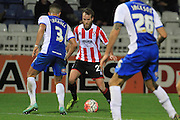 James Dayton during the The FA Cup match between Hartlepool United and Cheltenham Town at Victoria Park, Hartlepool, England on 7 November 2015. Photo by Antony Thompson.