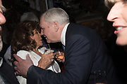 JOAN COLLINS; LORD CONRAD BLACK, Robin Birley and Lady Annabel Goldsmith Summer Party. Hertford St. London. 5 July 2017