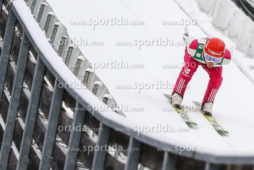 30.01.2015, Skisprungstadion, Predazzo, ITA, FIS Weltcup Nordische Kombination, Val di Fiemme, Skisprung, im Bild Tobias Haug (GER) // during skijumping of the FIS Nordic Combined World Cup Val di Fiemme at the Skisprungstadion in Predazzo, Italy on 2015/01/30. EXPA Pictures © 2015, PhotoCredit: EXPA/ Alice Russolo