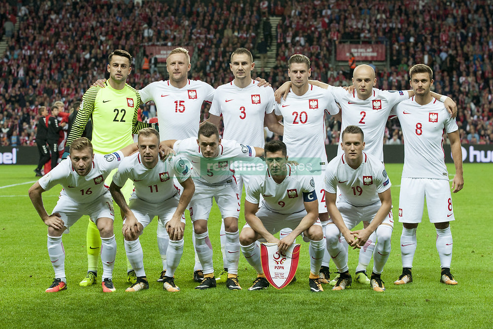September 1, 2017 - Copenhagen, Denmark - The Polish national football team poses for photo during the FIFA World Cup 2018 Qualifying Round between Denmark and Poland at Telia Parken Stadium in Copenhagen, Denmark on September 1, 2017  (Credit Image: © Andrew Surma/NurPhoto via ZUMA Press)